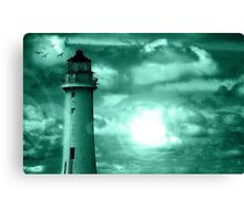 Lighthouse Collaboration in Turquoise Canvas Print