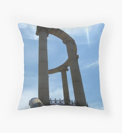 Beautiful arch on a background of the blue sky Throw Pillow