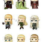 Chibi Elves by artwaste