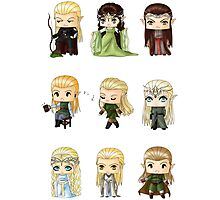 Chibi Elves Photographic Print