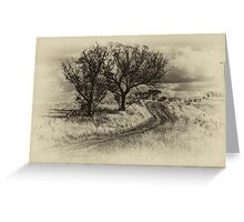 The Journey (Sepia) - Cootamundra,NSW - The HDR Experience Greeting Card