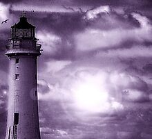 Lighthouse Collaboration in Purple by DavidWHughes