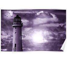 Lighthouse Collaboration in Purple Poster