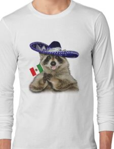 Mexican Raccoon Long Sleeve T-Shirt