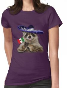 Mexican Raccoon Womens Fitted T-Shirt