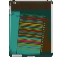 Bar code rusty iPad Case/Skin