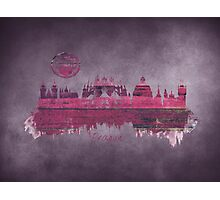 Prague skyline purple Photographic Print