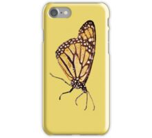 Monarch Butterfly Print On Gold iPhone Case/Skin