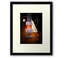 Curvaceous Guitar Framed Print