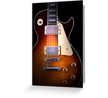 Curvaceous Guitar Greeting Card