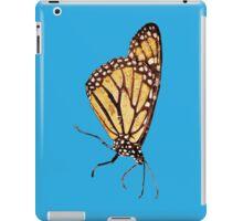 Monarch Butterfly Print On Blue iPad Case/Skin