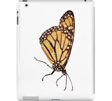 Monarch Butterfly Print On White iPad Case/Skin