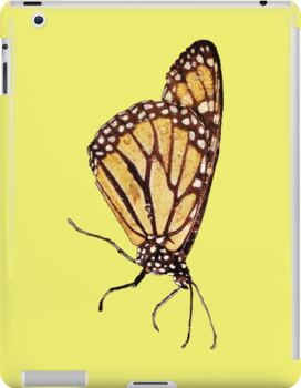 Monarch Butterfly Print On Yellow by DreamByDay