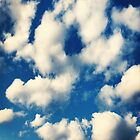 Fluffy Clouds In Blue Sky Print by DreamByDay
