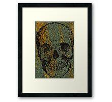 knitted skull Framed Print