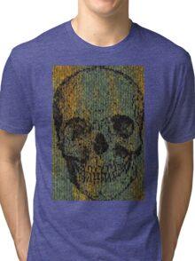 knitted skull Tri-blend T-Shirt