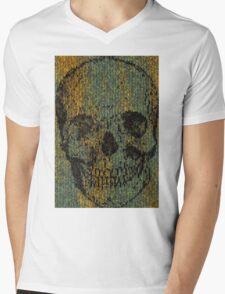 knitted skull Mens V-Neck T-Shirt