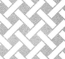 Silver glitter stripped pattern by dairinne