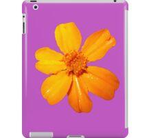 Orange Yellow Flower Print On Purple iPad Case/Skin