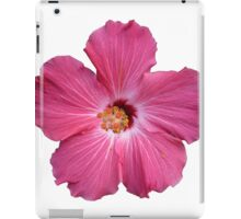 Pink Flower Print On White iPad Case/Skin