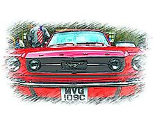 Yes Sally ..it's a Mustang! Photographic Print