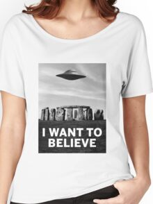 Want2believe (Stonehenge) Women's Relaxed Fit T-Shirt