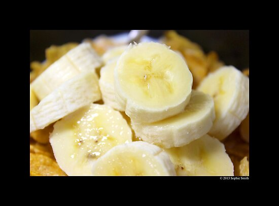 Time For Breakfast - Sliced Bananas & Kellogg's Corn Flakes  by © Sophie W. Smith