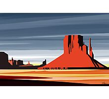 Arizona Desert Landscape Sunset Illustration Photographic Print