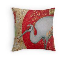 Red Curve, Quadrilaterals and Crane Throw Pillow