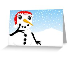 Thoughtful Snowman Greeting Card