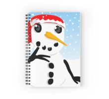 Thoughtful Snowman Spiral Notebook