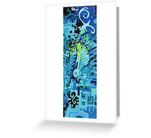 Held Gently in Blue - Abstract Acrylic Canvas Painting Greeting Card