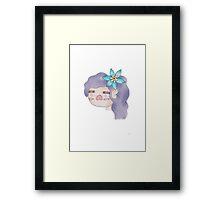 Flower Girl - Forget Me Not Framed Print