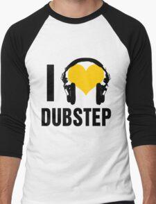 I Love Dubstep  Men's Baseball ¾ T-Shirt