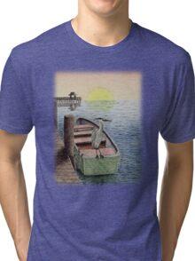 Great Blue Heron Tri-blend T-Shirt
