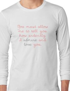 Darcy's Proposal Long Sleeve T-Shirt