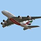 Emirates Airlines Airbus A380-861 by Graham Taylor