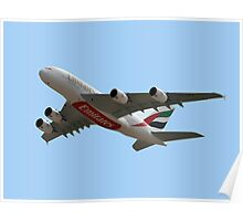 Emirates Airlines Airbus A380-861 Poster