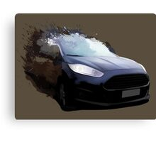 Ford Fiesta Splatter Canvas Print