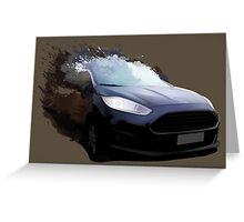 Ford Fiesta Splatter Greeting Card
