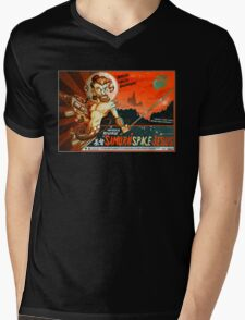 Samurai Space Jesus Mens V-Neck T-Shirt