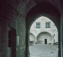 Entrance to courtyard in Saumur Chateau 198402220044 by Fred Mitchell