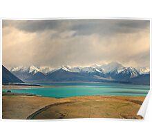 Storm Brewing over Lake Tekapo Poster