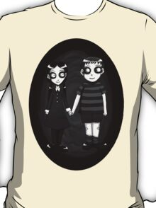 Dark little Wednesday and Pugsley Addams T-Shirt