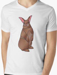 Bunny Rabbit Mens V-Neck T-Shirt