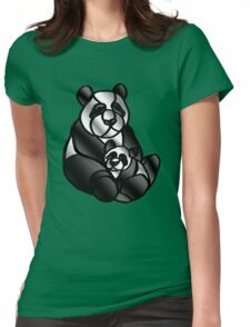 Mom and Baby Panda Bear Womens Fitted T-Shirt