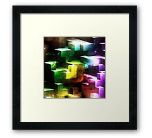 bright tetris Framed Print