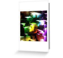 bright tetris Greeting Card