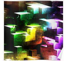 bright tetris Poster