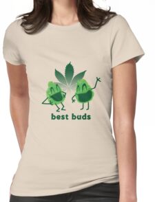 Best Buds Womens Fitted T-Shirt